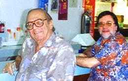 Art Paul mit Georg Kreisler in Palm Springs (USA) (c) Art Paul