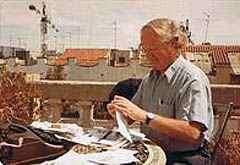 Dr. Arnold Hottinger auf der Dachterasse in Madrid 1990 (c) Dr. Arnold Hottinger