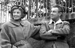 Lale Andersen und Artur Beul, 1949 in Zürich (c) Artur Beul