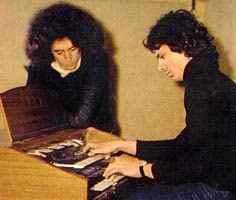 Angelo Branduardi and Paul Buckmaster at RCA in Rome, 1973. (c) Paul Buckmaster