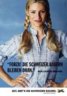 Werbekampagne des Schweizerischen Bauernverbandes: Michelle Hunziker (c) SBV