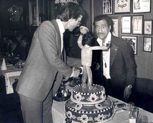 Sammy Davis Junior und Freddy Burger im Mascotte 1978 (c) Freddy Burger