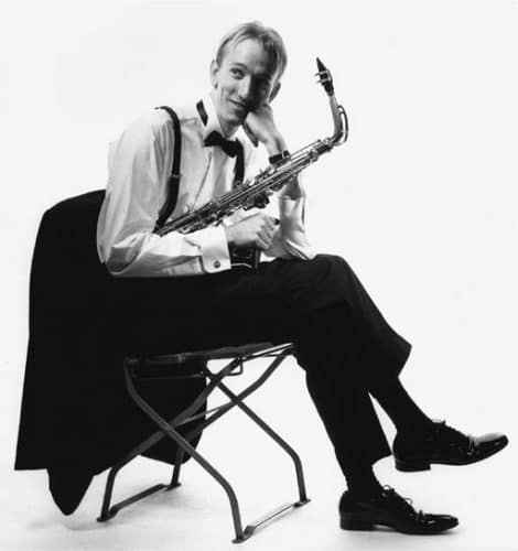 Chris Hopkins mit Saxophon, Foto: Sascha Kletzsch