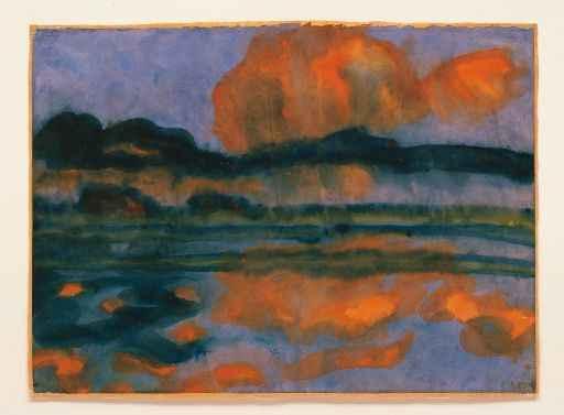 Emil Nolde: Wolkenspiegelung in der Marsch, um 1935, 35 x 48 cm, Sammlung Würth, Inv. 3, Foto: Philipp Schönborn, München