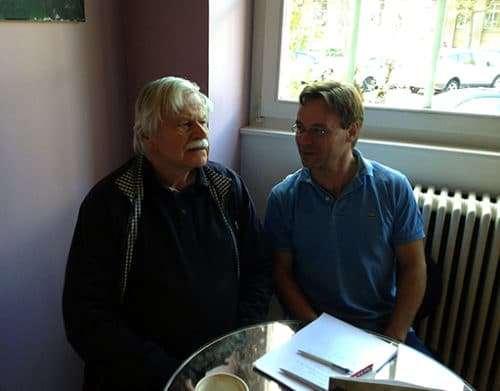 Vlastimil Hort mit Christian Dueblin im Gespräch