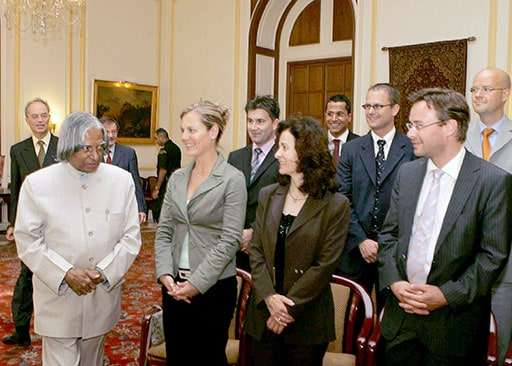 Christian Dueblin and His Excellency the former President of India A. P. J. Abdul Kalam