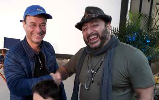 Christian Dueblin & Frank Coraci at the 2018 Gaessli Film Festival