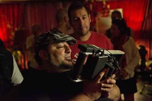 Frank Coraci & Adam Sandler on the set