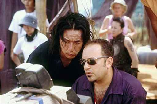 Frank Coraci & Jacky Chan on the set