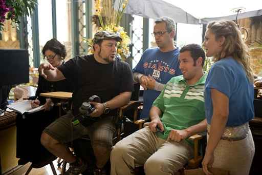 Frank Coraci on the set of Blended with Adam Sandler & Drew Barrymore