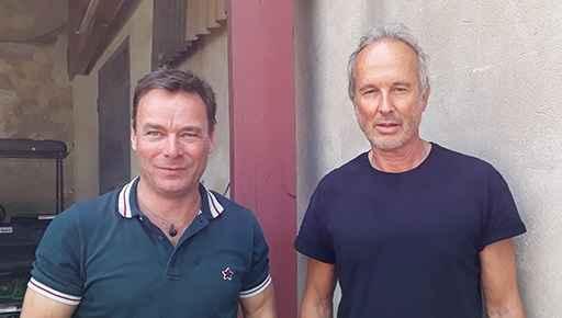 Christian Dueblin & Erwin Wurm nach dem Interview; Foto: Xecutives.net