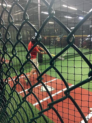Baseball: batting the cage
