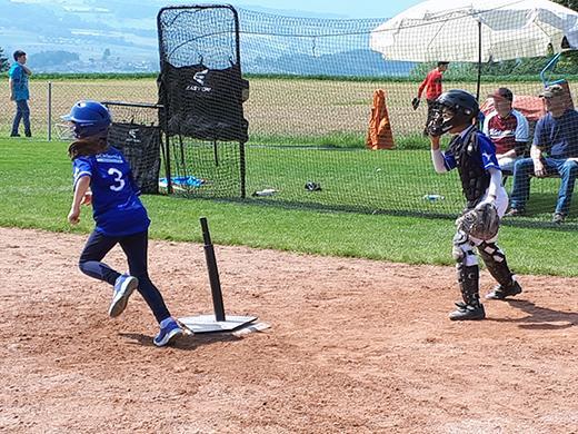 Baseball kids in action
