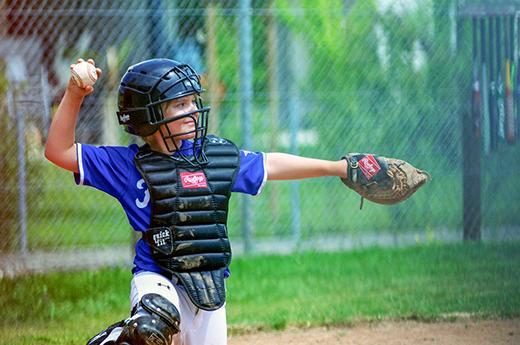 Juvenile catcher in action