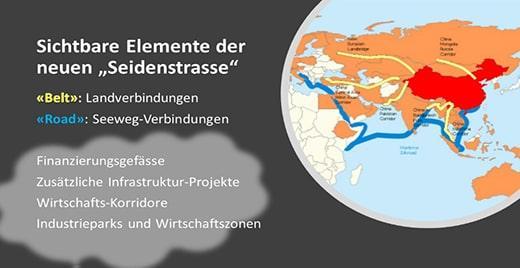 Die Infrastruktur-Projekte zu Land und See bilden die Basis für weitere Wirtschafts-Elemente von «Belt & Road»