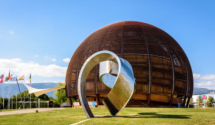 The Globe of Science and Innovation at CERN, the European Center for Nuclear Research, Meyrin near Geneva in Switzerland (picture reference olrat - stock.adobe.com)