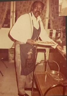 Joe Turner at his hobby, cooking