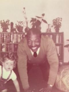 Joe Turner with his granddaughter Sandra 1965