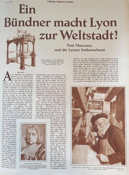 Ein Buendner macht Lyon zur Weltstadt_Schweizer Illustrierte Zeitung 1937_Xecutives.net