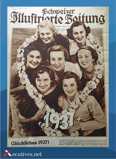 Titelseite Schweizer Illustrierte Zeitung - Glückliches 1937 - Bericht Xecutives.net
